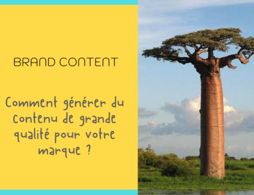Stratégie de Brand Content, la création de contenu à votre service